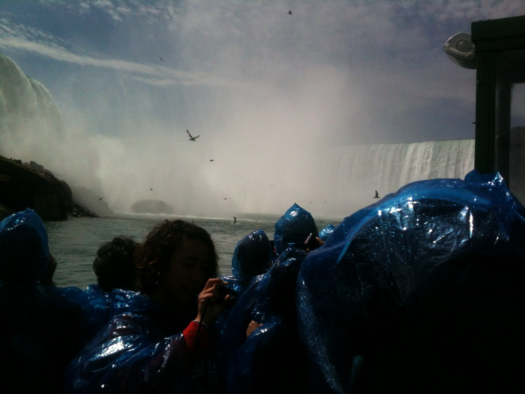 Inside the Niagara Falls without a rain poncho